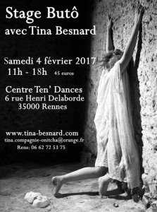 Stage, butô, butoh, rennes, bretagne, japon, tina, besnard, danse, stage, performance, atelier