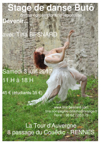 Buto, butoh, Rennes, Stage, Tina, Besnard, atelier, bretagne